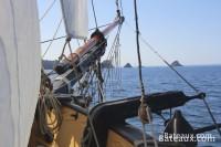 Les Tas de Pois sur la presqu'ile de Crozon depuis La Recouvrance