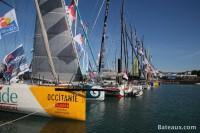 Imoca avant le départ du Vendée Globe 2016