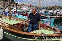 Ptit-Pierre sur son Pointu à Nice