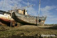 Cimetière de bateaux à Camaret (29)