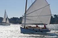 Catboat à voile de jonque
