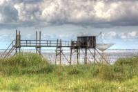 Une cabane de pêche sur la Charente