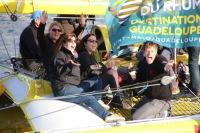 Acapella quittant Saint-Malo lors de la route du Rhum 2014 - 5