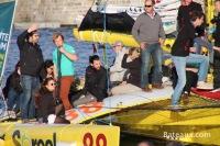 Acapella quittant Saint-Malo lors de la route du Rhum 2014 - 2