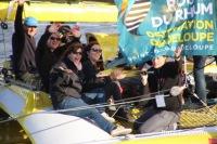 Acapella quittant Saint-Malo lors de la route du Rhum 2014