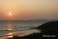 Les Tas de Pois au coucher de soleil