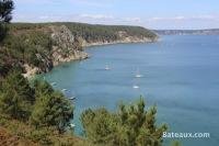 Anse de Saint-Hernot dans la baie de Douarnenez
