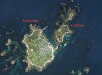 Vue aérienne de l'archipel de Molène