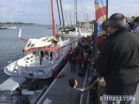 Baptême de l'IMOCA Imagine d'Armel Tripon