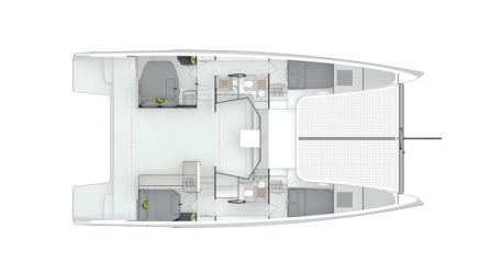 Plan d'amenagement du voilier