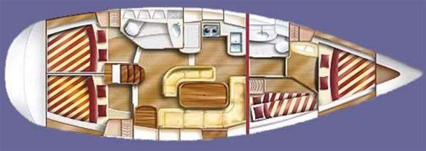 Plan d'amenagement du bateau