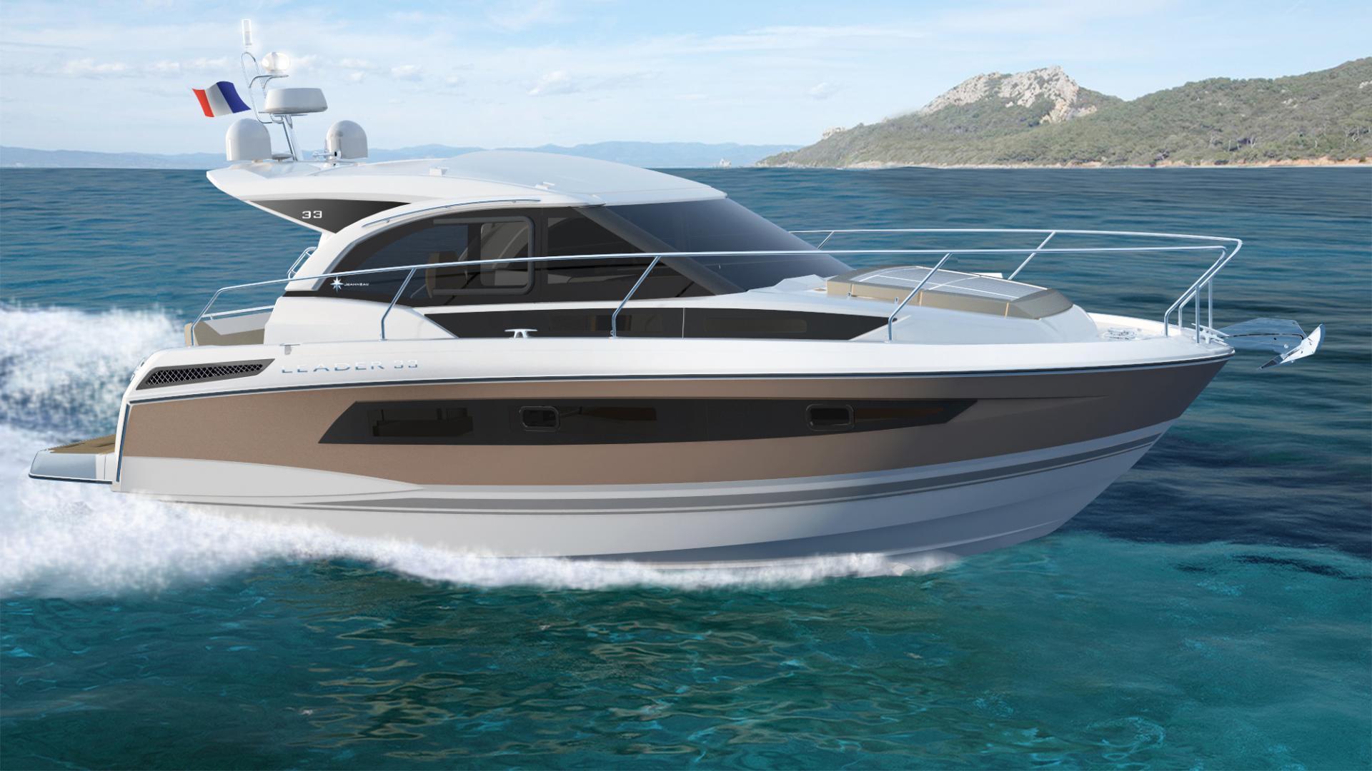 jeanneau leader 33 bateau moteur fiche. Black Bedroom Furniture Sets. Home Design Ideas