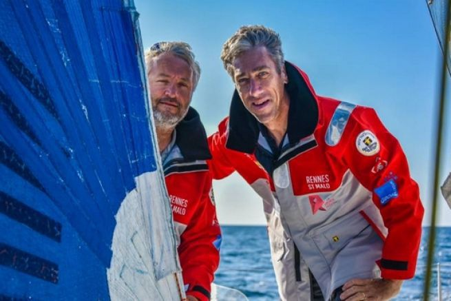 Yvan Bourgnon et Gilles Lamiré