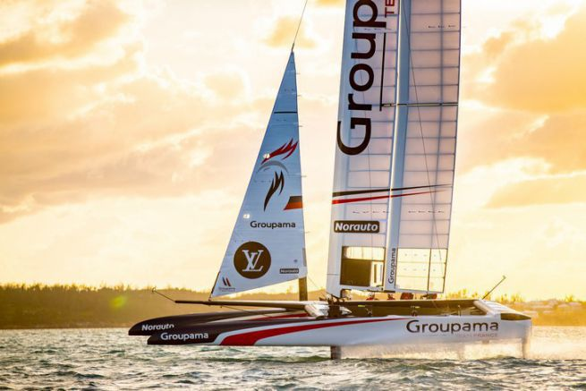 Le Class AC de Groupama Team France tire ses premiers bords