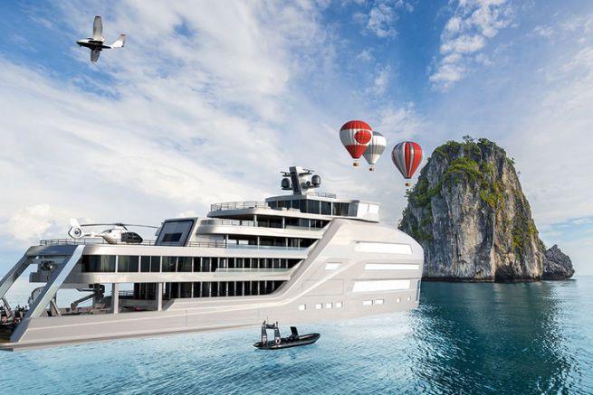Taboo, un concept de superyacht d'exploration polaire