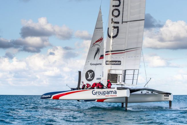 L'aile de Groupama Team France
