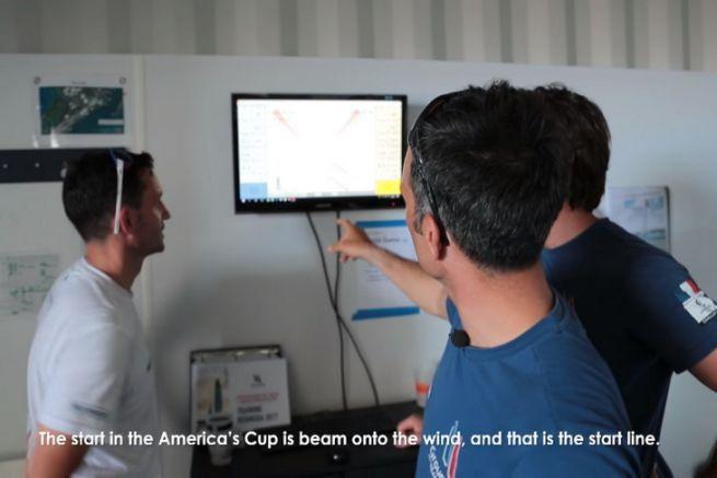 Franck Cammas explique les pré-départ des matches racing