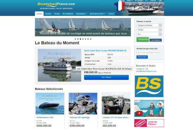 Boatshed, site de courtage de bateaux de plaisance d'occasion